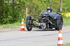 Coche de carreras Morgan del triciclo de la vendimia Foto de archivo