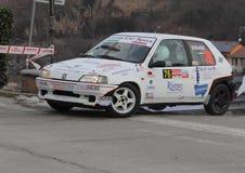 Coche de carreras de Peugeot 106 Foto de archivo libre de regalías