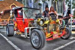 Coche de carreras pintado aduana de Ford del vintage Fotografía de archivo libre de regalías