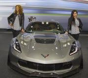 Coche 2015 de Chevrolet Corvette Z06 en el salón del automóvil 2014 del International de Nueva York Foto de archivo libre de regalías