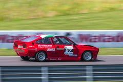 Coche de competición clásico de Alfa Romeo Imágenes de archivo libres de regalías