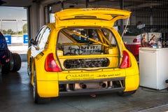 Coche de competición de Renault Clio V6 fotografía de archivo libre de regalías