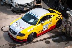 Coche de competición del cupé de Audi TT foto de archivo libre de regalías