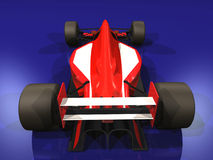 Coche de competición rojo F1 vol. 3 Imágenes de archivo libres de regalías