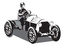 Coche de competición viejo stock de ilustración