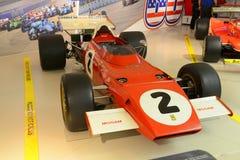 Coche de competición retro del Fórmula 1 de Ferrari F1 Imágenes de archivo libres de regalías