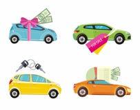 Coche de compra, alquiler y préstamo ilustración del vector