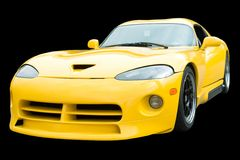 Coche de deportes amarillo Fotografía de archivo