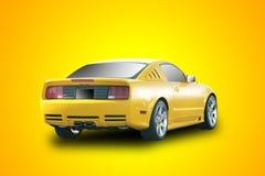 Coche de deportes amarillo Imagen de archivo libre de regalías
