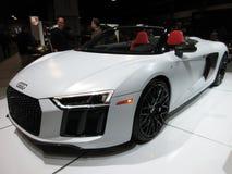 Coche de deportes blanco de Audi V10 fotografía de archivo libre de regalías