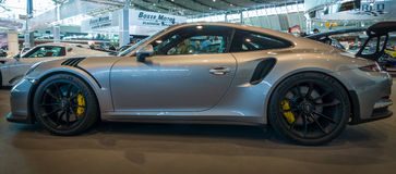 Coche de deportes Porsche 911 GT3 RS 991, 2016 Foto de archivo libre de regalías