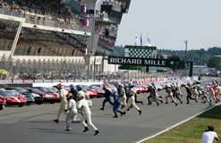 Coche de deportes, raza clásica 24h de Le Mans Imagen de archivo libre de regalías