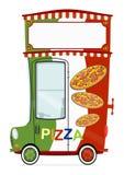 Coche de entrega de la pizza Fotografía de archivo libre de regalías