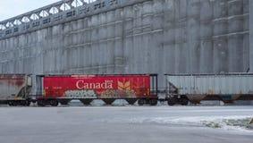 Coche de Frieght del tablero del trigo de Canadá Imagen de archivo libre de regalías