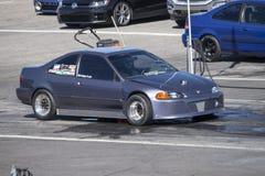 Coche de Honda en la línea de salida Foto de archivo libre de regalías