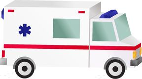 Coche de la ambulancia Imagenes de archivo