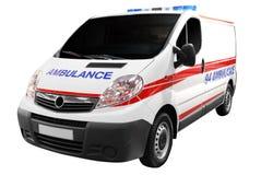 Coche de la ambulancia aislado Fotos de archivo libres de regalías