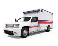 Coche de la ambulancia aislado Imagen de archivo libre de regalías