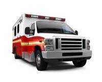 Coche de la ambulancia aislado Imagenes de archivo