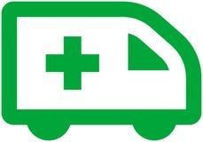 Coche de la ambulancia del vector Imagen de archivo