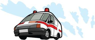 Coche de la ambulancia en el movimiento imágenes de archivo libres de regalías