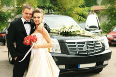 Coche de la boda Fotos de archivo libres de regalías