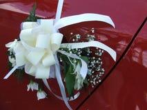 Coche de la boda del adorno Imagenes de archivo