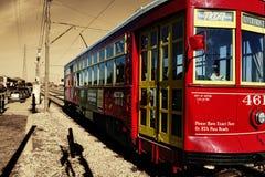 Coche de la calle de la orilla del río en New Orleans Imagenes de archivo