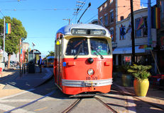 Coche de la calle de San Francisco Fotos de archivo libres de regalías