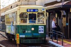 Coche de la calle en Nagasaki Fotos de archivo