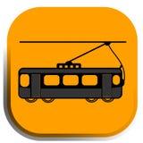Coche de la calle, icono de la tranvía Imagen de archivo