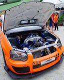 Coche de la desviación de Subaru WRX en la desviación 2010 de la fórmula Fotografía de archivo libre de regalías