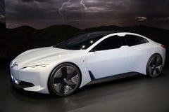 Coche de la dinámica de BMW i Vision fotografía de archivo libre de regalías