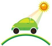 Coche de la energía solar Fotografía de archivo libre de regalías