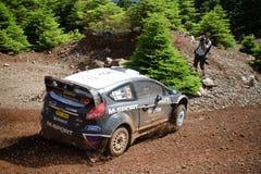 Coche de la fiesta WRC de Ford Imagenes de archivo