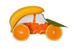 Coche de la fruta Imagen de archivo libre de regalías