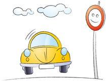 Coche de la historieta Imagen de archivo libre de regalías
