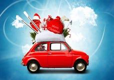 Coche de la Navidad foto de archivo libre de regalías