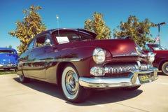 Coche 1950 de la obra clásica de Mercury Coupe Imagen de archivo