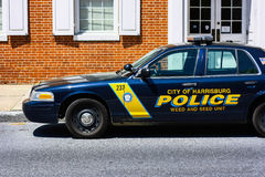 Coche de la policía de Harrisburg ' Imagen de archivo libre de regalías