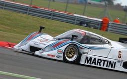 Coche de la resistencia de Lancia LC2, obra clásica 2014 de Silverstone Imagenes de archivo
