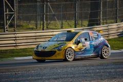 Coche de la reunión de Peugeot 207 en Monza Imágenes de archivo libres de regalías