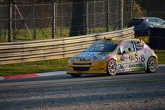 Coche de la reunión de Peugeot 207 en Monza Imagen de archivo