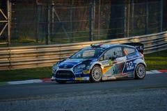 Coche de la reunión del mundo de Ford Fiesta WRC en Monza Fotos de archivo libres de regalías