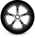 Coche de la rueda Fotografía de archivo