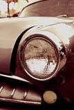 Coche de la sepia del vintage en primer Imagen de archivo libre de regalías