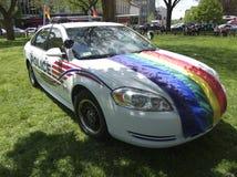 COCHE DE LA UNIDAD DEL HOMOSEXUAL Y LESBIANA DE LA POLICÍA DEL WASHINGTON DC Imágenes de archivo libres de regalías