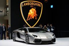 Coche de Lamborghini Aventador imágenes de archivo libres de regalías