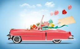 Coche de las compras Imágenes de archivo libres de regalías