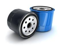 Coche de los filtros de aceite Foto de archivo libre de regalías